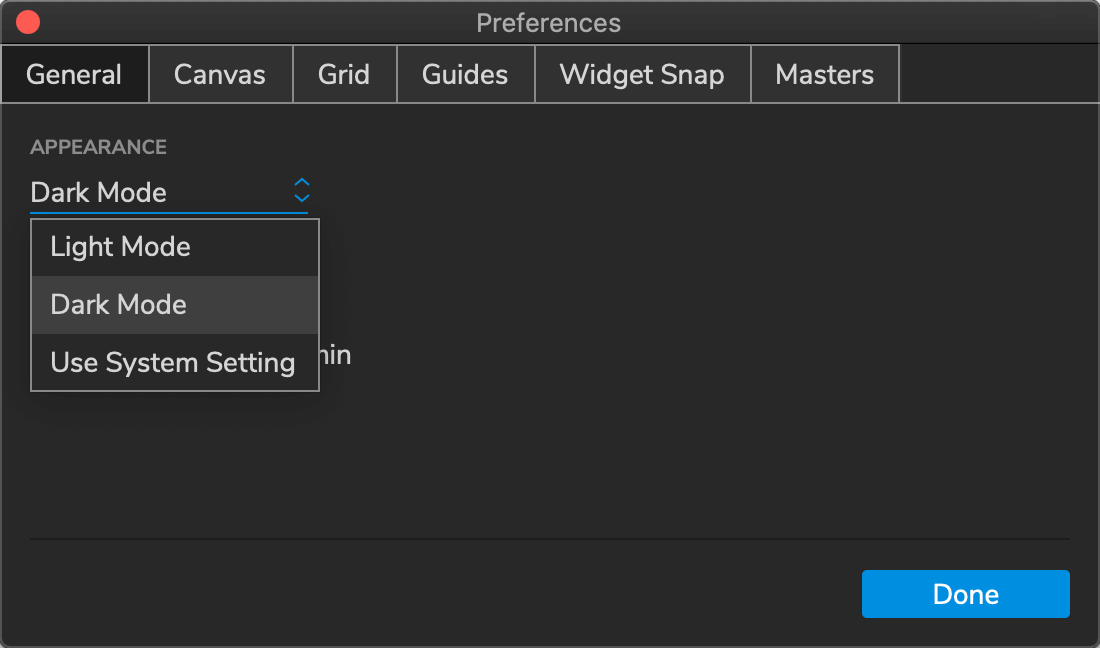 New in Axure RP 9: Dark Mode