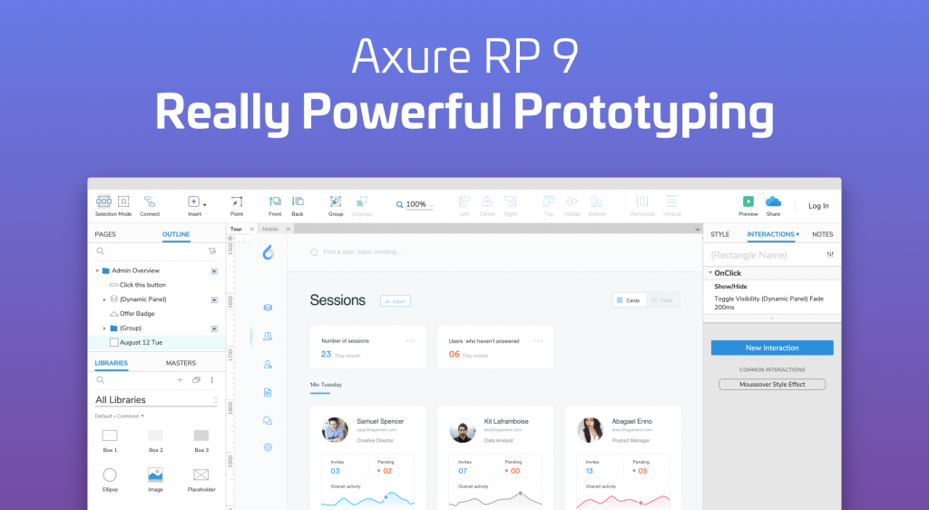 Axure Rp 9 Prototypes Specifications And Diagrams In One Tool