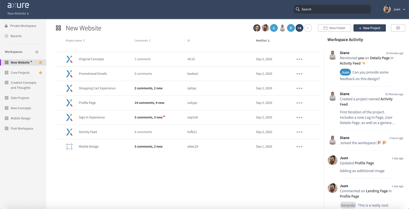 Keep Your Team on the Same Page with Axure Cloud's New Workspace Activity Feed